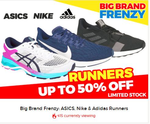 seleccione para auténtico comprar nuevo atractivo y duradero catch.com.au Big Brand Frenzy: ASICS, Nike & Adidas Runners UP TO ...