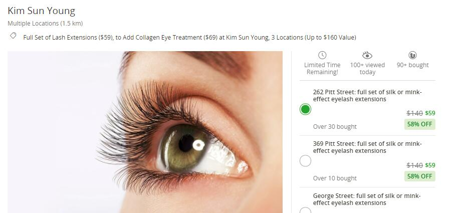 Lash Extensions At Kim Sun Young From 59 Digbargain Australia